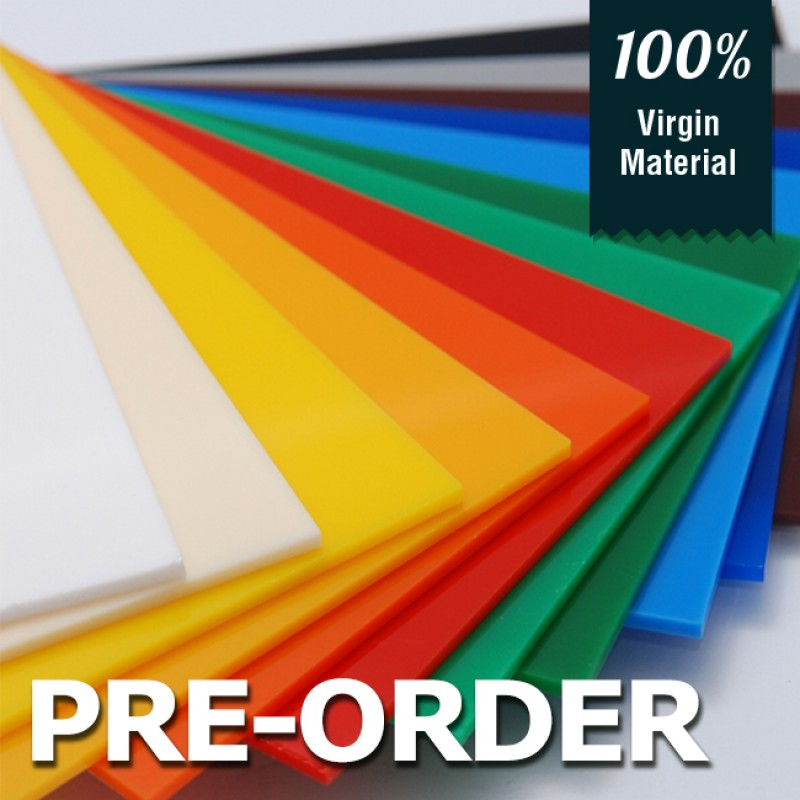 Acrylic Solid Sheet - 1220x2440mm - Clear [PRE-ORDER]