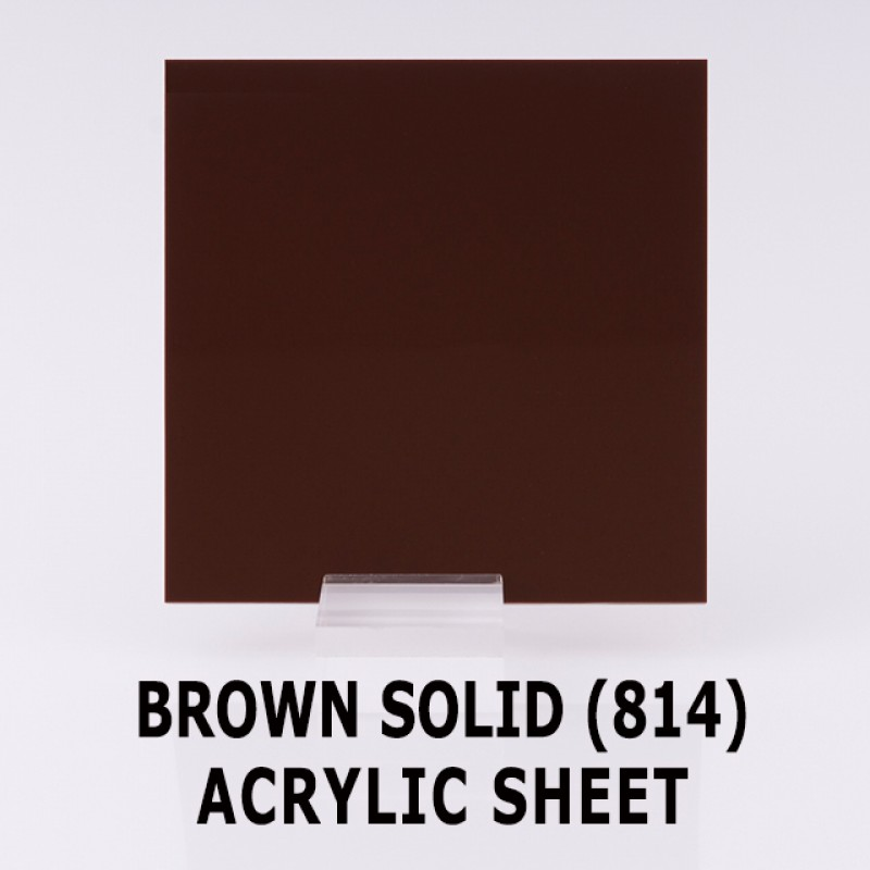 Acrylic Solid Sheet - 1220x2440mm x 3mm - 814 Opaque Brown