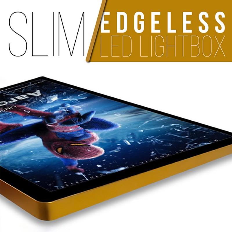 SLIM Edgeless LED Lightbox - GOLD - A0