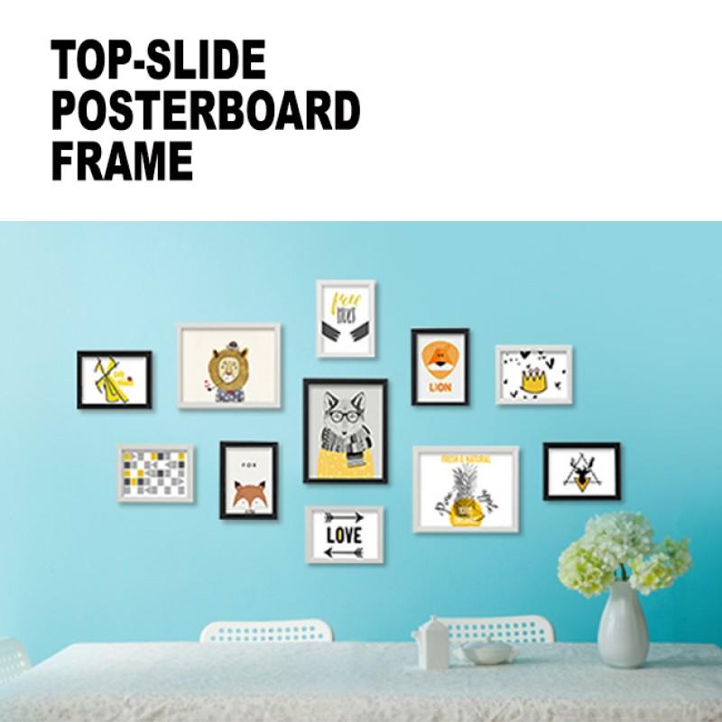 Top-Slide Posterboard Frame (with corner caps)