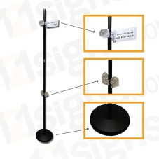 Clear-Clip Stand with Base - Black