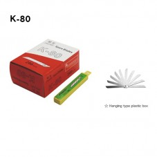 Pen-Knife Cutter Spare Blade (K-80) (1pkg=10pcs)