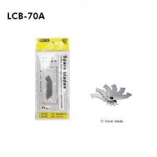 Acrylic / Plastic Cutter Spare Blade (LCB-70A) - 1box=10packs (60pcs)