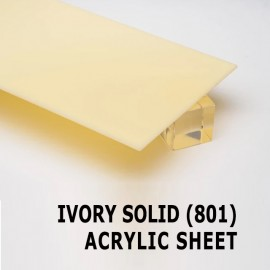 Acrylic Solid Sheet - 1220x2440mm x 3mm - 801 Ivory