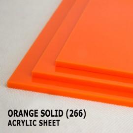 Acrylic Solid Sheet - 1220x2440mm x 3mm - 266 Orange