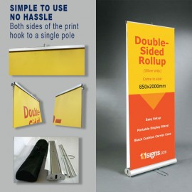 Double-Sided Roll Up Stand