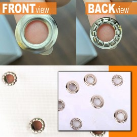 Eyelets (for Automatic Eyelet Puncher) - Silver - 10mm - 1000sets